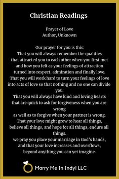 Christian Wedding Readings and Scripture - Prayer of Love - Author, Unknown. - Christian Wedding Readings and Scripture , wedding christian Christian Wedding Readings and Scripture - Prayer of Love - Author, Unknown. - Christian We. Wedding Messages, Wedding Quotes, Wedding Ideas, Wedding Planning, Wedding Decorations, Wedding Scripture, Wedding Vows To Husband, Wedding Readings, Prayer For You