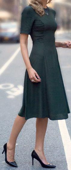 My go to dress silhouette. Princess seam