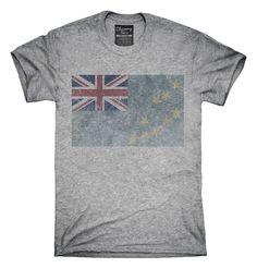 Retro Vintage Tuvalu Flag T-Shirts, Hoodies, Tank Tops