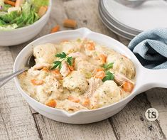 This twist on classic chicken & dumplings comfort foods is made easy in the slow cooker. Slow Cooker Recipes, Crockpot Recipes, Chicken Recipes, Tastefully Simple Recipes, Large Slow Cooker, Artichoke Recipes, Dumpling Recipe, Easy Meals, Freezer Meals
