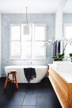 Glacier Grey Glass Herringbone Mosaic H O M E In 2019 regarding dimensions 1312 X 1920 Herringbone Tile Bathroom - Bath room tiles can be bought in all Laundry In Bathroom, Bathroom Renos, Bathroom Flooring, Bathroom Windows, Budget Bathroom, Bathroom Ideas, Bathroom Furniture, The Block Bathroom, Black Bathroom Floor Tiles