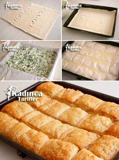 Recipe for puff pastry with puff pastry, how? - Female recipes - Site of delicious, practical and delicious food recipes Quiche, Lunch Recipes, Cooking Recipes, Puff Pastry Recipes, Puff Pastries, Oven Dishes, Most Delicious Recipe, Recipe Sites, Turkish Recipes