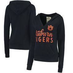 Auburn Tigers Pressbox Women's Laurie V-Neck Hoodie - Navy