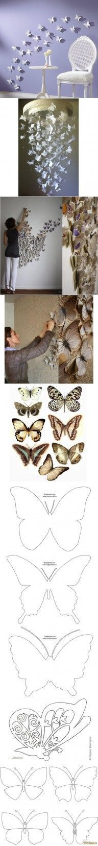 DIY Butterfly Pattern Wall Decor DIY Projects