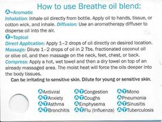 How to use doTERRA Breathe oil blend. Purchase your doTERRA oils at www. - New Ideas Diy Essential Oil Diffuser, Vetiver Essential Oil, Essential Oil Uses, Deep Sleep Essential Oils, Young Living Essential Oils, Doterra Breathe Oil, Doterra Peppermint, Doterra Essential Oils, Clear Lungs