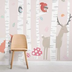 Children's Woodland Scene Wallpaper Mural | Hovia