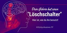 "Dein Gehirn hat eine ""Löschtaste"". Hier ist wie du sie benutzt #Motivation #Produktivität Kundalini Yoga, Yoga Meditation, Good To Know, Feel Good, Brain Science, Mental Training, Mental Strength, Self Improvement, Health And Beauty"