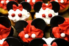 Mickey Mouse Cupcakes, Minnie Mouse Cupcakes