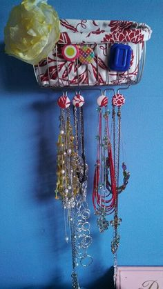 CD Holder to Necklace Organizer Necklace organization Hanging