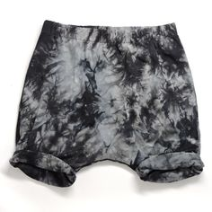 Little Adi + Co. 'Grey Tie-dye' Harem short