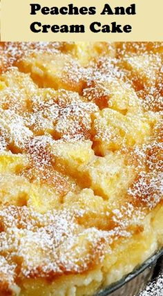 Peaches and Cream Cake--This delicious peach cake recipe uses fresh peaches and . Peaches and Cream Cake--This delicious peach cake recipe uses fresh peaches and bakes up with a little creamy batter - just enough to hold it all together. Peach Cake Recipes, Sweet Recipes, Dessert Recipes, Recipes With Fresh Peaches, Peaches And Cream Cake Recipe, Peach Dessert Recipe, Peach Cobbler Pound Cake Recipe, Peach Cobbler Dump Cake, Summer Cake Recipes