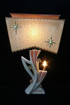 mid century atomic lamp.