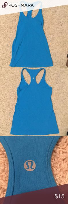 Lululemon Blue Tank Cotton  Good condition lululemon athletica Tops Tank Tops
