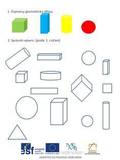 Výsledek obrázku pro geometrická tělesa pracovní list Geometry