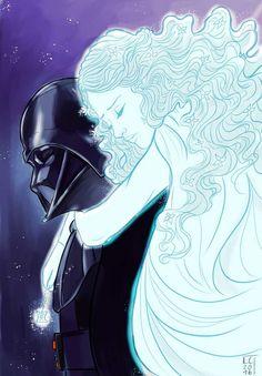 Padme y Darth Vader