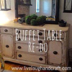 Buffet Table Re-do! #minwax #Gillden #Rust-Oleum #Rustic