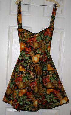 Apron in fall fabric