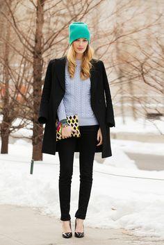70 Looks From The Fashion Olympics #refinery29  http://www.refinery29.com/ny-fashion-week-street-style#slide47  Mariana Marcki has the most perfect, basic black topcoat. rag & bone Dust Bowl Coat, $795, available at La Garçonne.