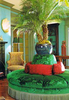 "Rotunda & palm. ""The World of Muriel Brandolini Interiors"""