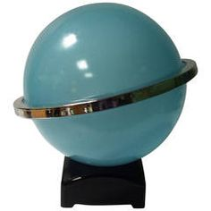 Rare Davidsons Pale Blue Saturn Lamp