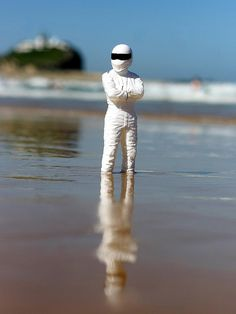 (some say) The Stig likes to top up his tan