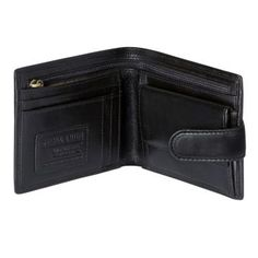 Jekyll & Hide's 'Oxford' leather wallet is designed to meet the needs of the modern gentleman. Made from the finest natural leather in a smart black, the wallet opens with a press-stud in a bi-fold style to reveal a fully lined interior. Five card slots are set alongside a coin pocket, backed by a note compartment with a long zipped pocket. Finished with embossed Jekyll & Hide detailing, the 'Oxford' black leather wallet comes with a presentation gift box.