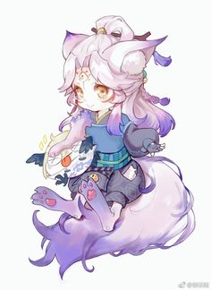 Yêu Hồ Anime Chibi, Kawaii Chibi, Cute Chibi, Cute Characters, Anime Characters, Anime Galaxy, Card Captor, Chibi Girl, Anime Kunst