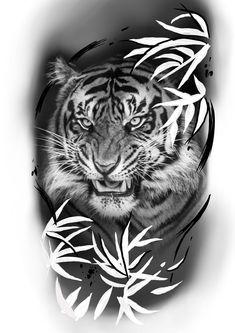 Japan Tattoo Design, Tiger Tattoo Design, Lion Head Tattoos, Arrow Tattoos, Tattos, Japanese Tattoos For Men, Japanese Tattoo Designs, Bonsai Tattoo, Tiger Sketch