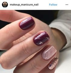 Pin by Lisa Firle on Nageldesign - Nail Art - Nagellack - Nail Polish - Nailart - Nails in 2020 Blush Nails, Rose Gold Nails, Glitter Accent Nails, Sparkly Nails, Bride Nails, Wedding Nails, Wedding Makeup, Wedding Bride, Plum Wedding