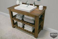 Free Plan of the Month: Rustic Bathroom Vanity - Kreg Owners' Community