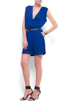 a36a08960d01 MANGO - CLOTHING - V-neck short jumpsuit Mango