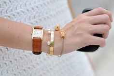 cartier tank, the bracelet with pearls and the cartier love bracelet perfect combination