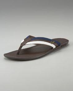 a6d9771e83825 Carros Striped Flip-Flop by Lacoste at Neiman Marcus. Flip Flop Shoes