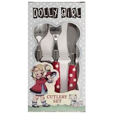 Kinderbestek Rood Polkadot - Dolly Girl