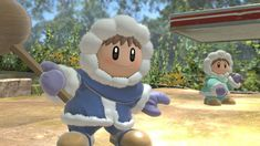 Ice Climber, Super Smash Bros, Climbers, Smurfs, Character, Lettering