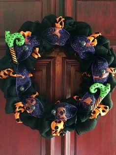 Sale Front door wreath fall wreath Halloween by HunterandCassidy