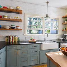 Slate Blue Kitchen Cabinets, Vintage, Kitchen, Sicora Design