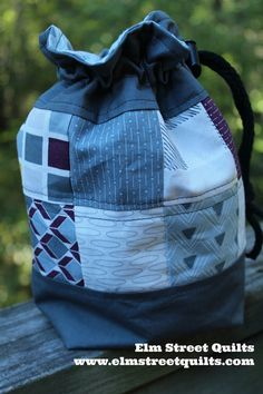 Elm street quilts game piece bag tutorial make from patchwork or a drawstring bag tutorial solutioingenieria Gallery