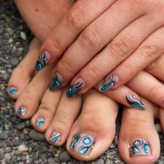 Abstract Manicure And Pedicure Ideas ❤ Learn How To Do Manicure And Pedicure In No Time ❤ See more ideas on our blog!! #naildesignsjournal #nails #nailart #naildesigns #toes #toenails #manicureandpedicure #pedicure How To Do Manicure, Manicure And Pedicure, Neon Nail Art, Neon Nails, Pretty Nail Designs, Toe Nail Designs, Toe Nail Color, Nail Colors, Pedicure Ideas