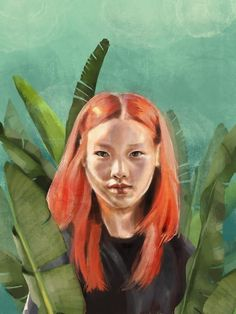 Searching Art Print by Anna Tomka - X-Small Portrait Inspiration, Painting Inspiration, Digital Portrait, Digital Art, Canvas Prints, Art Prints, Traditional Art, Vibrant Colors, Colorful