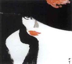 Variation sur rouge baiser by Rene Gruau | Blouin Art Sales Index