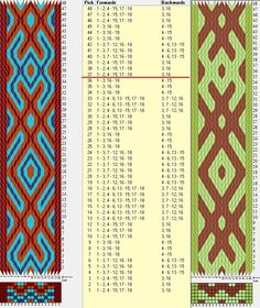 18 tarjetas hexagonales, 4/3 colores, repite cada 36 movimientos// sed_804_c6 diseñado en GTT༺❁