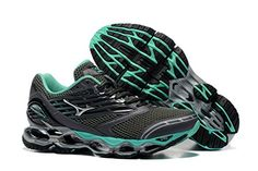 Womens Wave Prophecy 5 running ShoeBlackGreen39 M EUR85 DM US *** To view further for this item, visit the image link.