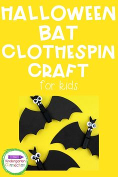 Halloween is in the air, and that sometimes means doing fun, seasonal crafts with your kids! A bit of a break from the daily routine can be valuable for adding in a bit of holiday fun to the classroom for students and teachers. This clothespin bat craft is a perfect Halloween craft activity, and by adding a magnet to the back, you can turn it into a fun gift for kids to take home, too! #kindergarten #prek #preschool #halloweenactivities #kidscraft #kidscrafts