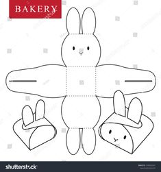Package for bakery stock vector (royalty free) 1038563341 – Basteln für Kinder – etexture Diy Gift Box, Diy Box, Diy Gifts, Bunny Crafts, Easter Crafts, Spring Crafts, Holiday Crafts, Diy And Crafts, Crafts For Kids