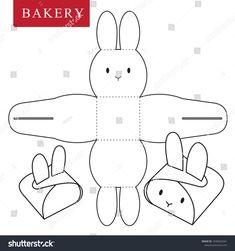 Package for bakery stock vector (royalty free) 1038563341 – Basteln für Kinder – etexture Diy Gift Box, Diy Box, Bunny Crafts, Easter Crafts, Diy Crafts For Gifts, Holiday Crafts, Paper Box Template, Box Template Printable, Easter Art