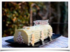 Bûche à la mousse vanille et aux poires tonka Cooking, Desserts, Pears, Cloud, Kitchens, Kitchen, Tailgate Desserts, Deserts, Postres