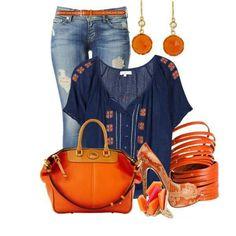I like the orange and blue