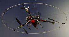 Der Tricopter auf der Hannover Messe 2013. (Foto: Werner Pluta/Golem.de)