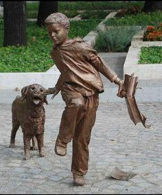 Kligl Sándor: Fiú kutyával